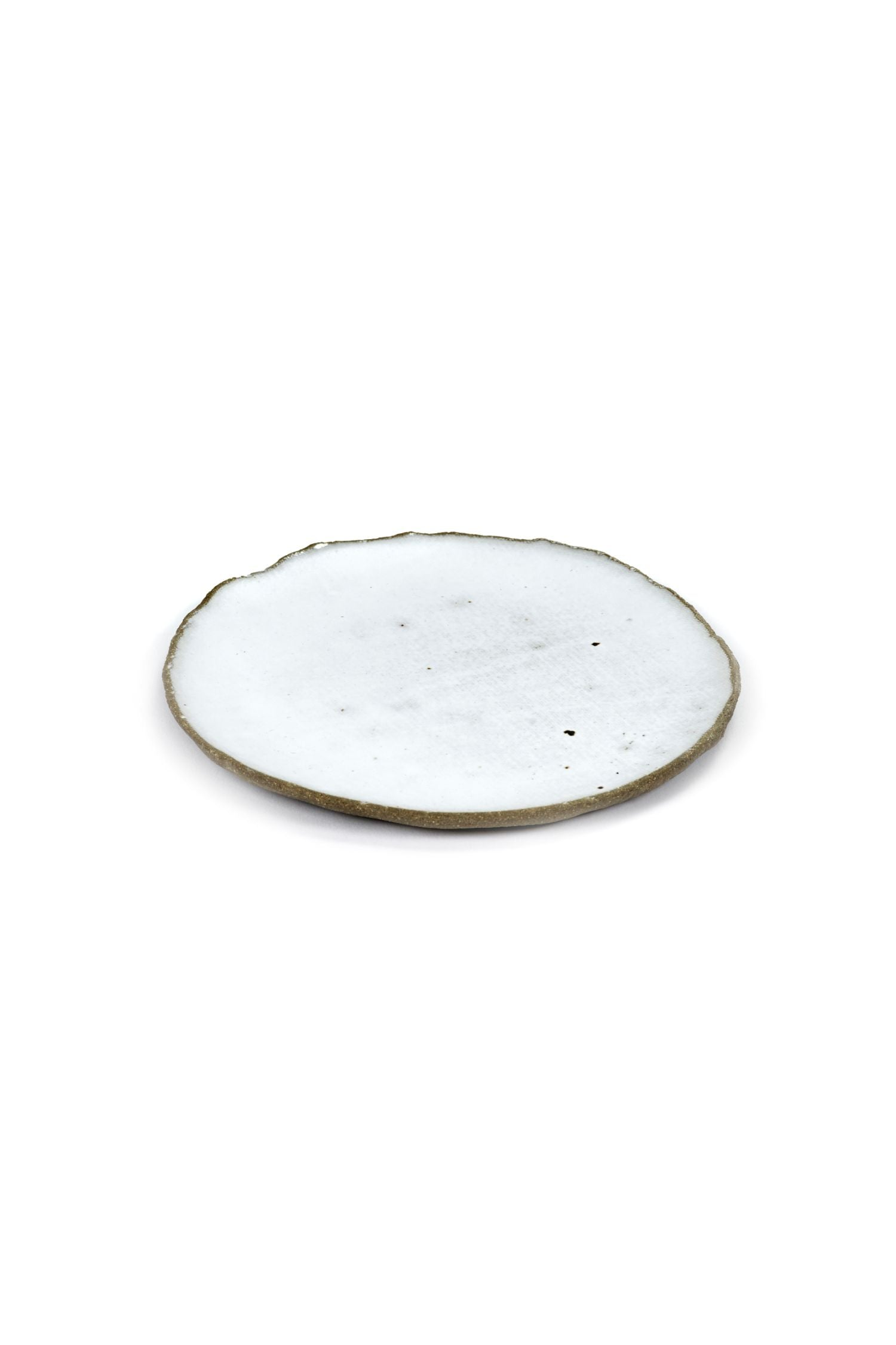oyster plate white 14cm