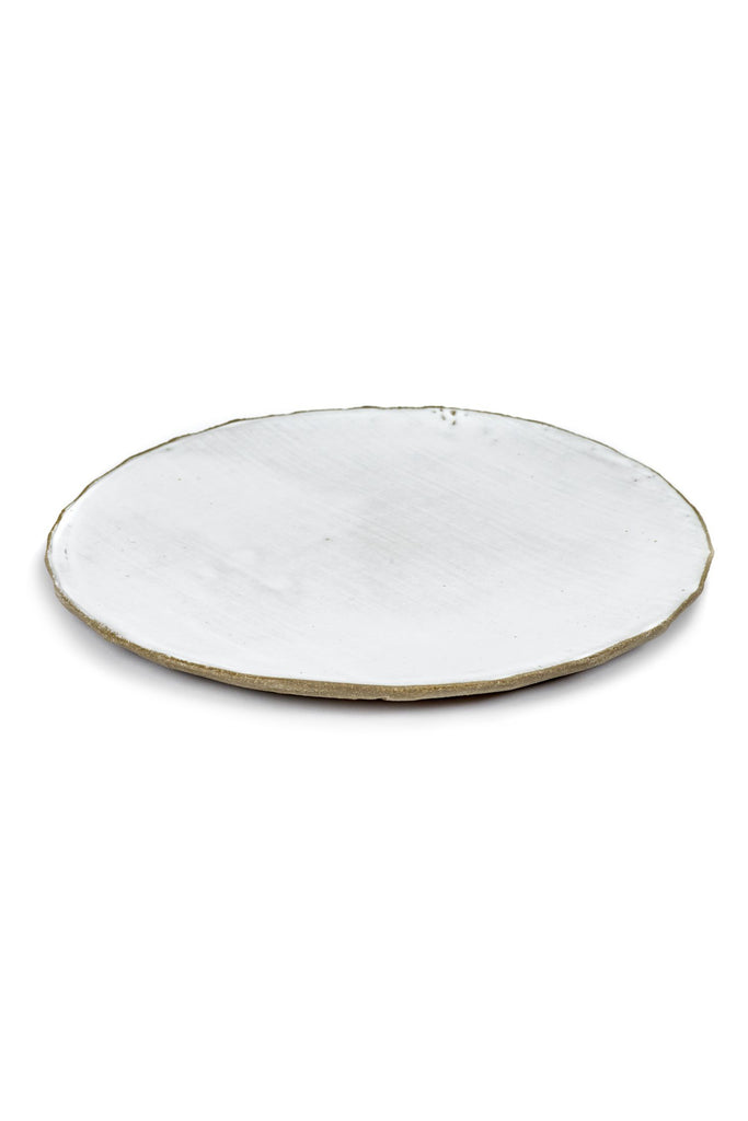 oyster plate white 28cm
