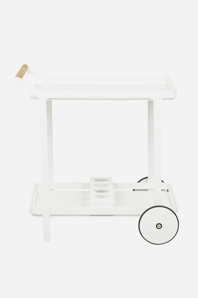 hahei bar trolley white