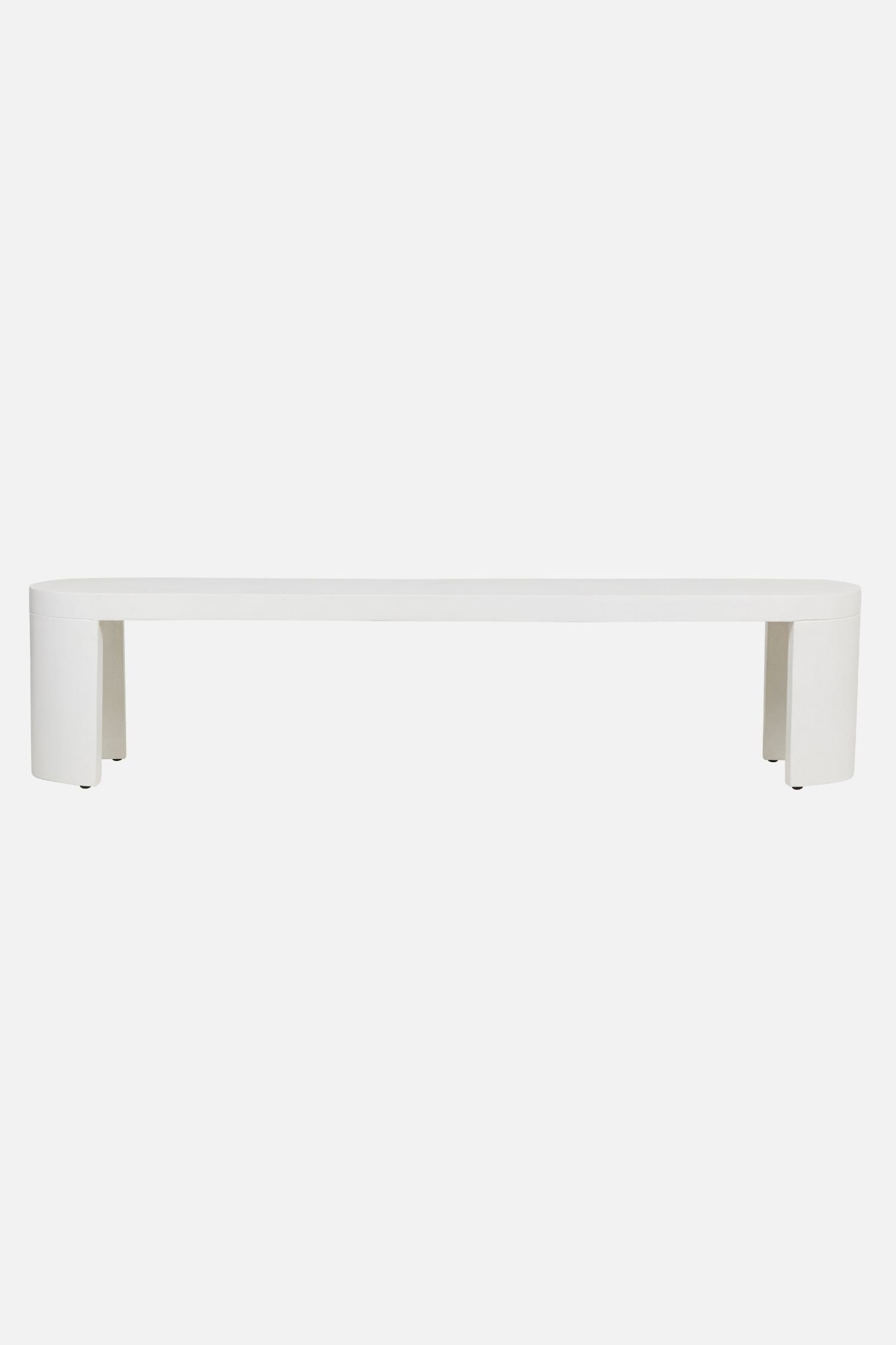 new chums outdoor concrete bench off white