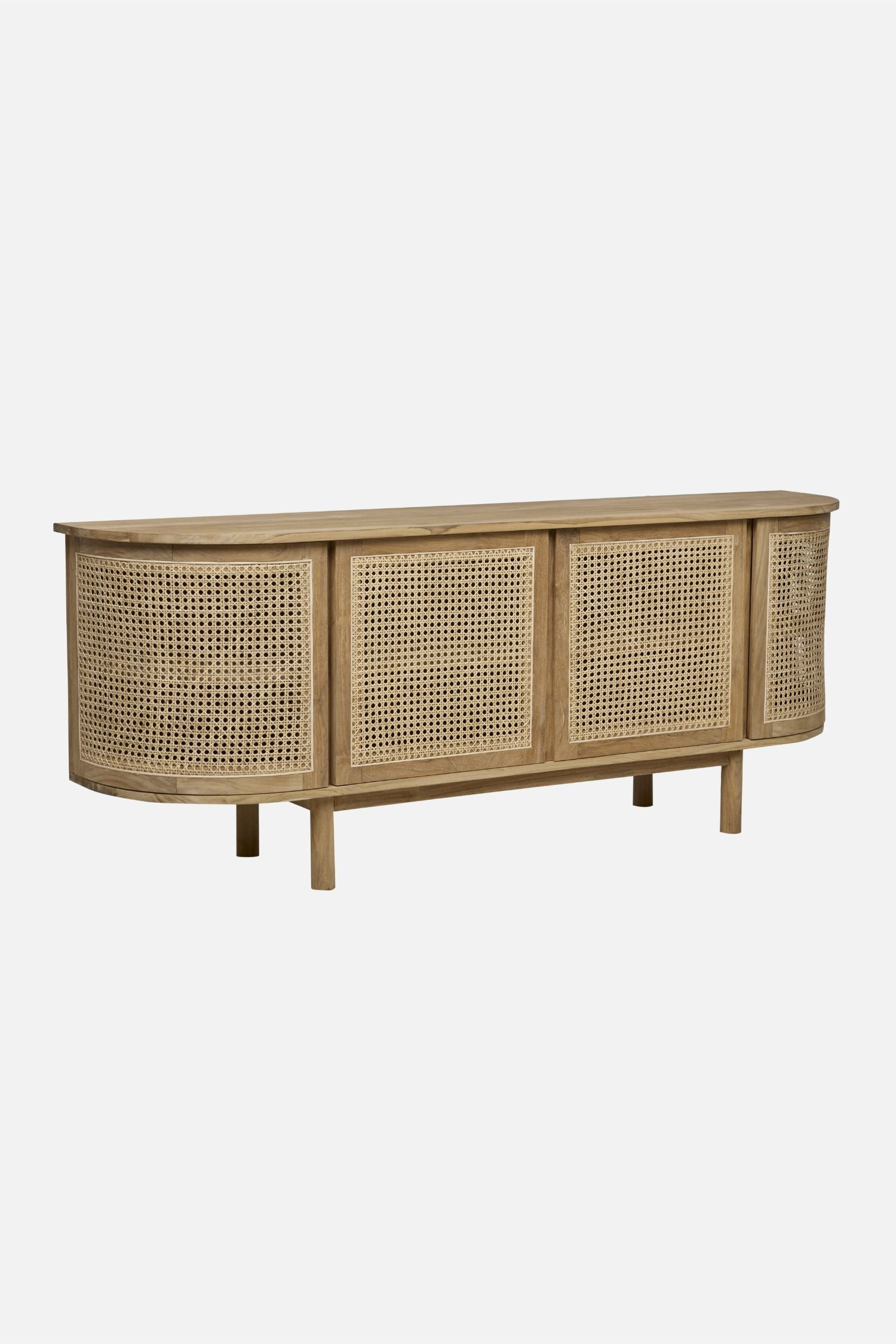 willow buffet 4 door curved