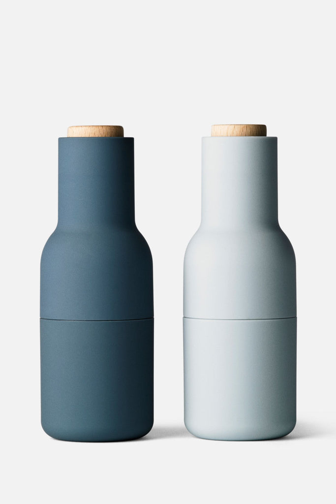 bottle salt+pepper grinders classic blues