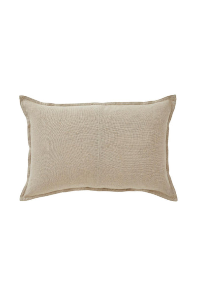 linum cushion natural rectangular