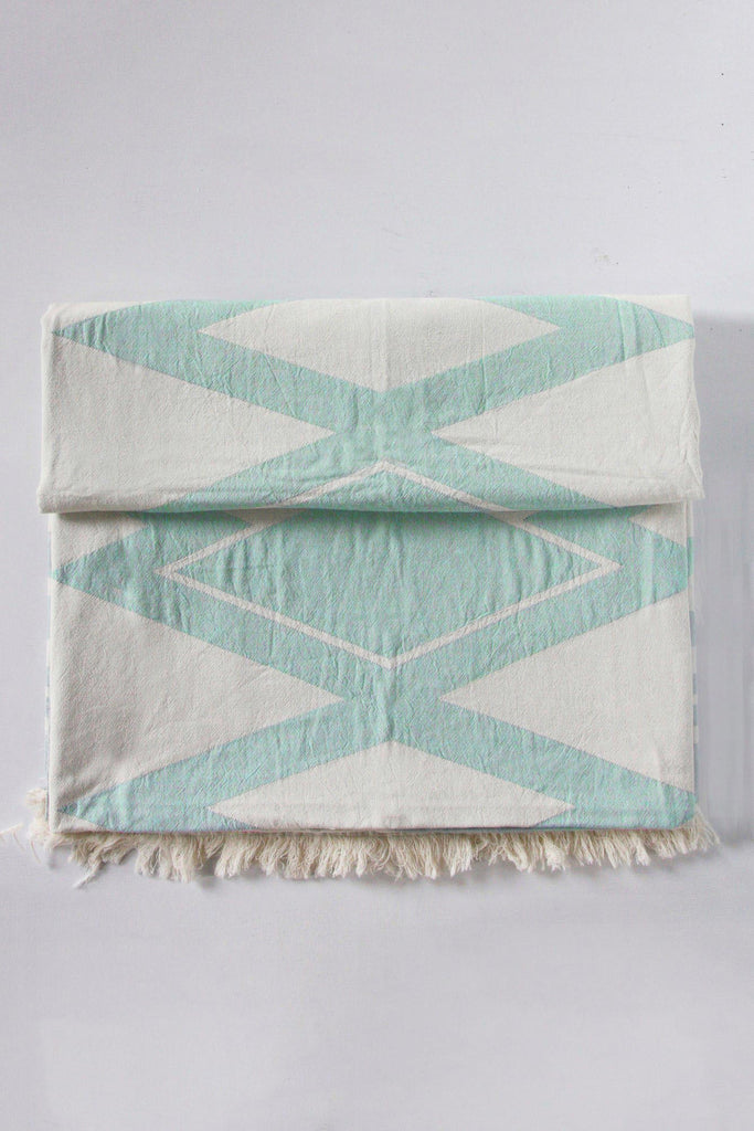 echo beach towel summer green