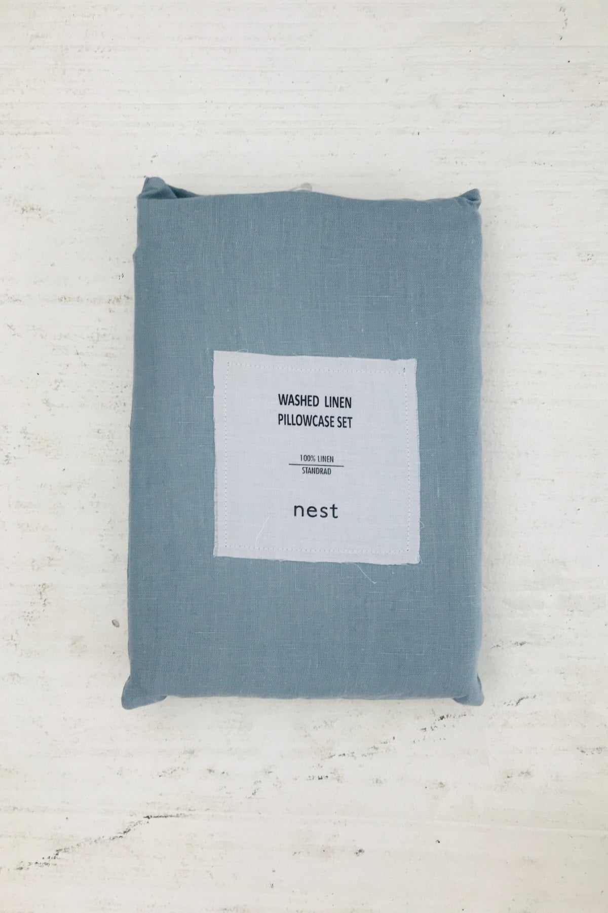 washed linen pillowcases set of 2 dusty blue - 50% off