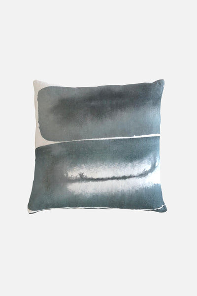 midnight reflections linen cushion cover 60x60cm