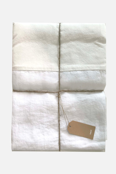washed pure linen bedskirt white