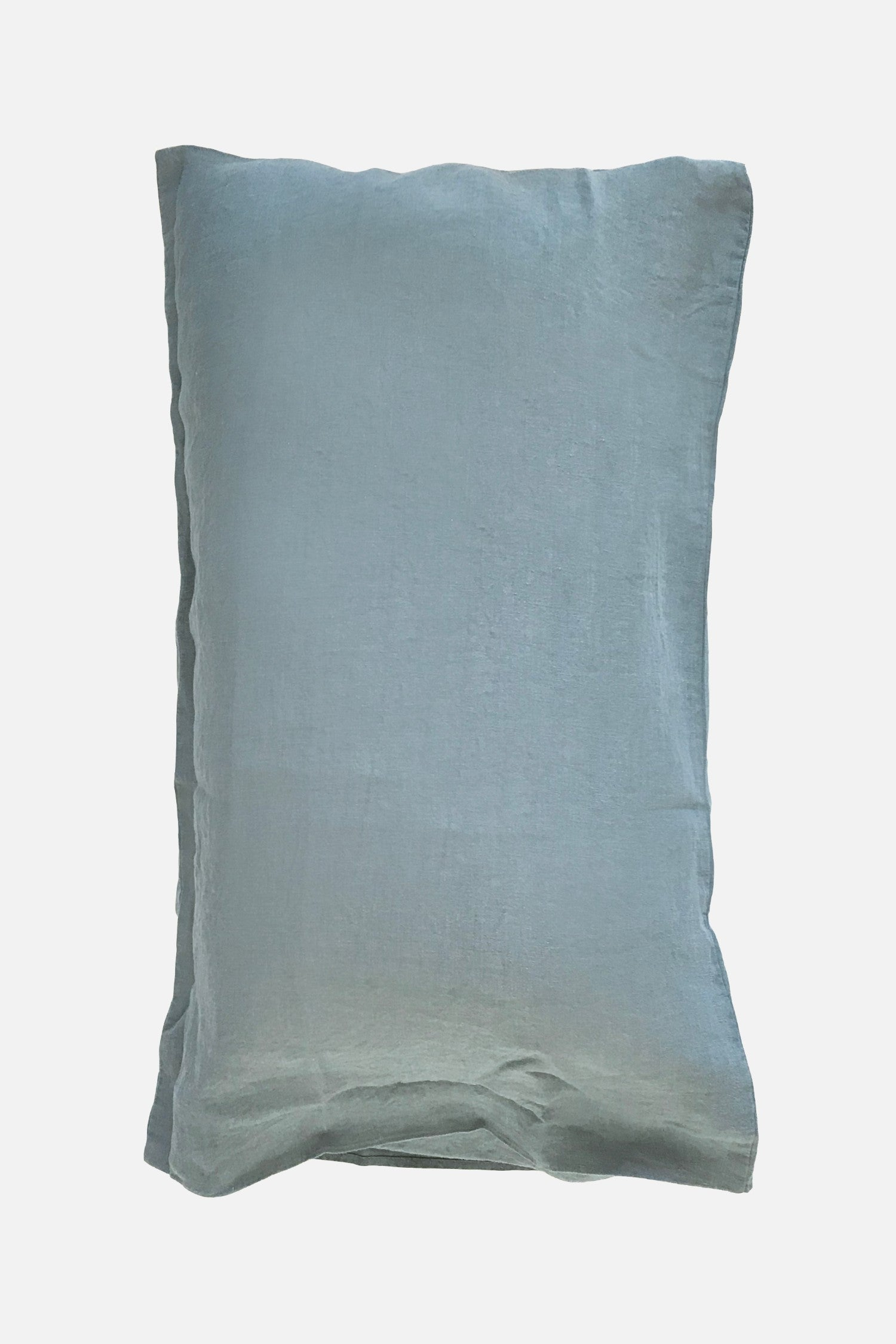 washed pure linen pillowcase greenstone