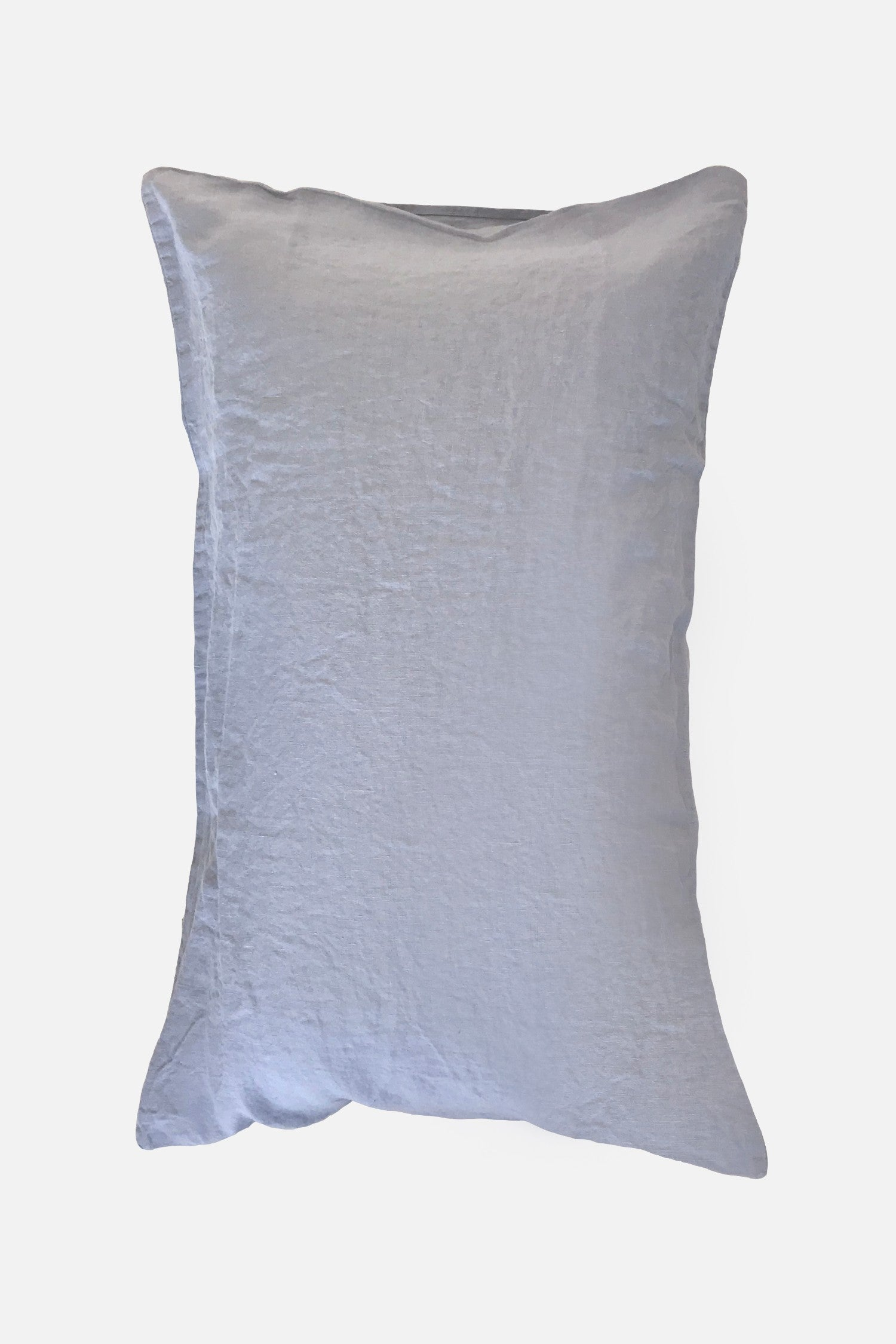washed pure linen pillowcase cloud blue