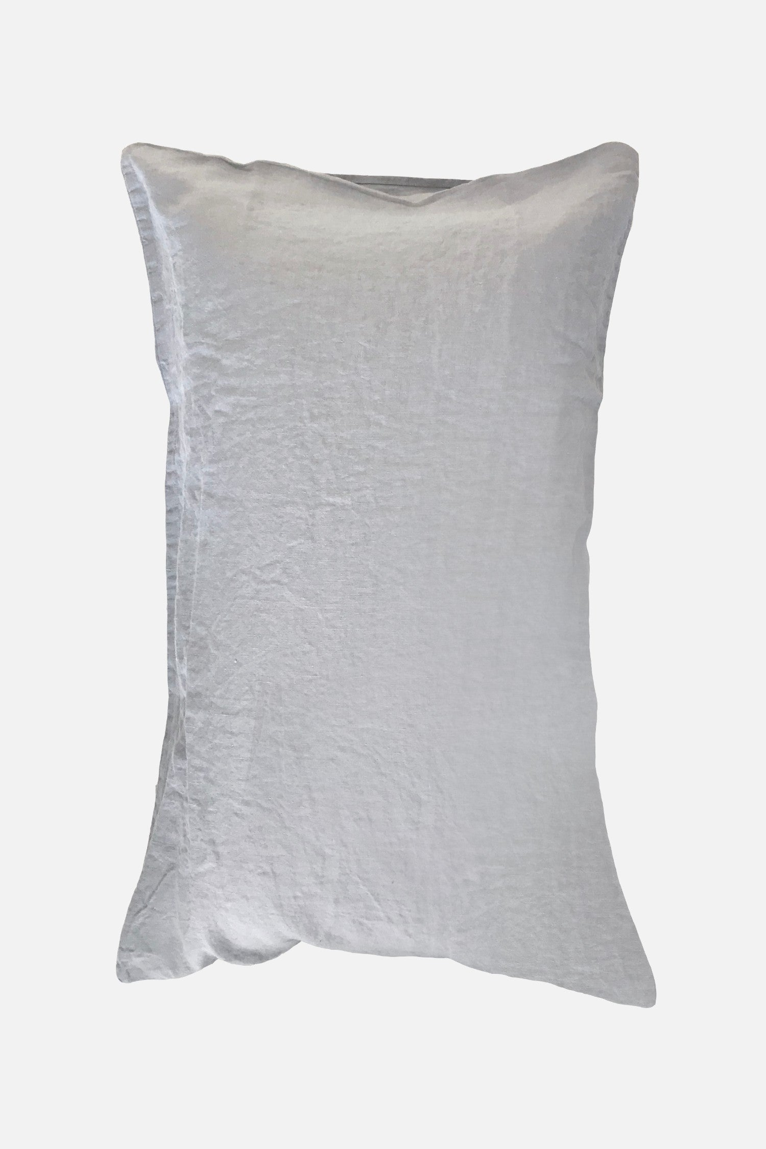 washed pure linen pillowcase fog grey