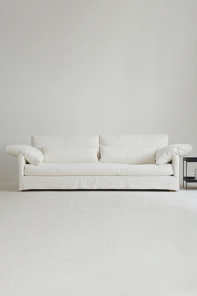 islander sofa 3.5 seater soft white
