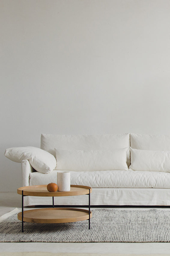islander sofa 4 seater soft white