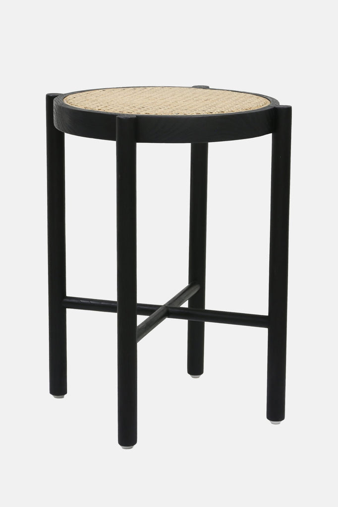 retro webbing stool black