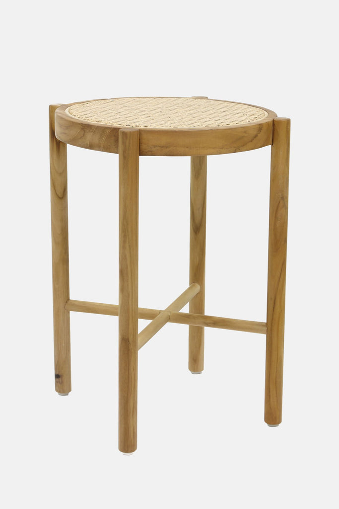 retro webbing stool natural