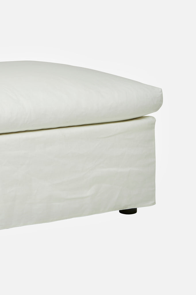 torpedo bay linen ottoman canvas white