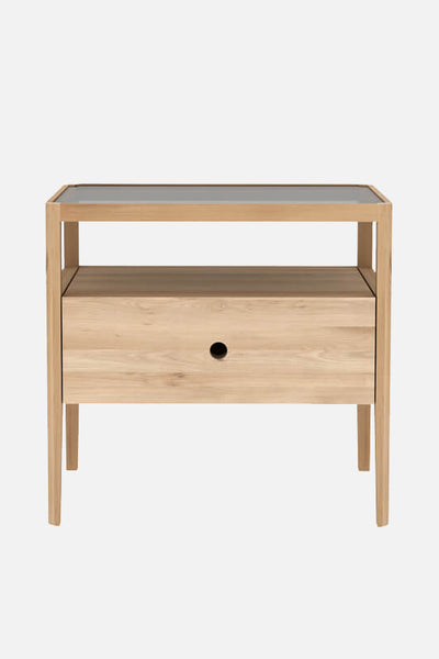 fina bedside table oak