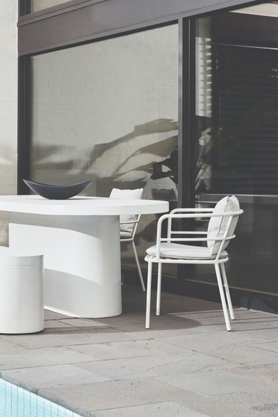 te kouma outdoor chair white
