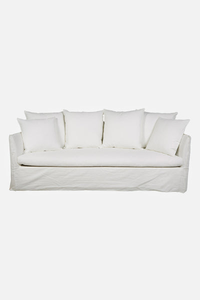 torpedo bay linen sofa 3 seater canvas white