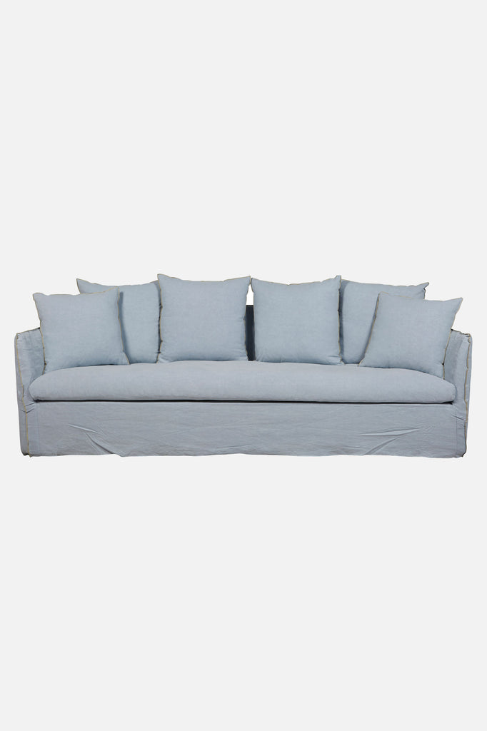 torpedo bay linen sofa 4 seater heron blue