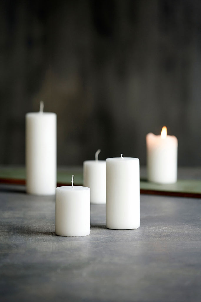 candle white 20cm