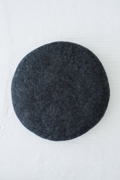 felted wool seat pad charcoal