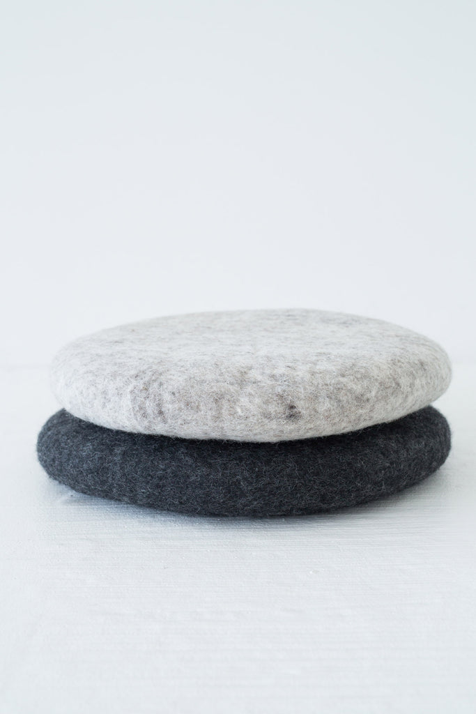 felted wool seat pad grey