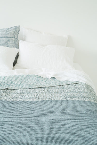 goddess bedcover steel blue