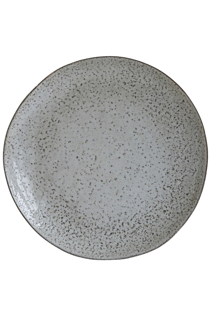 rustique dinner plate grey blues