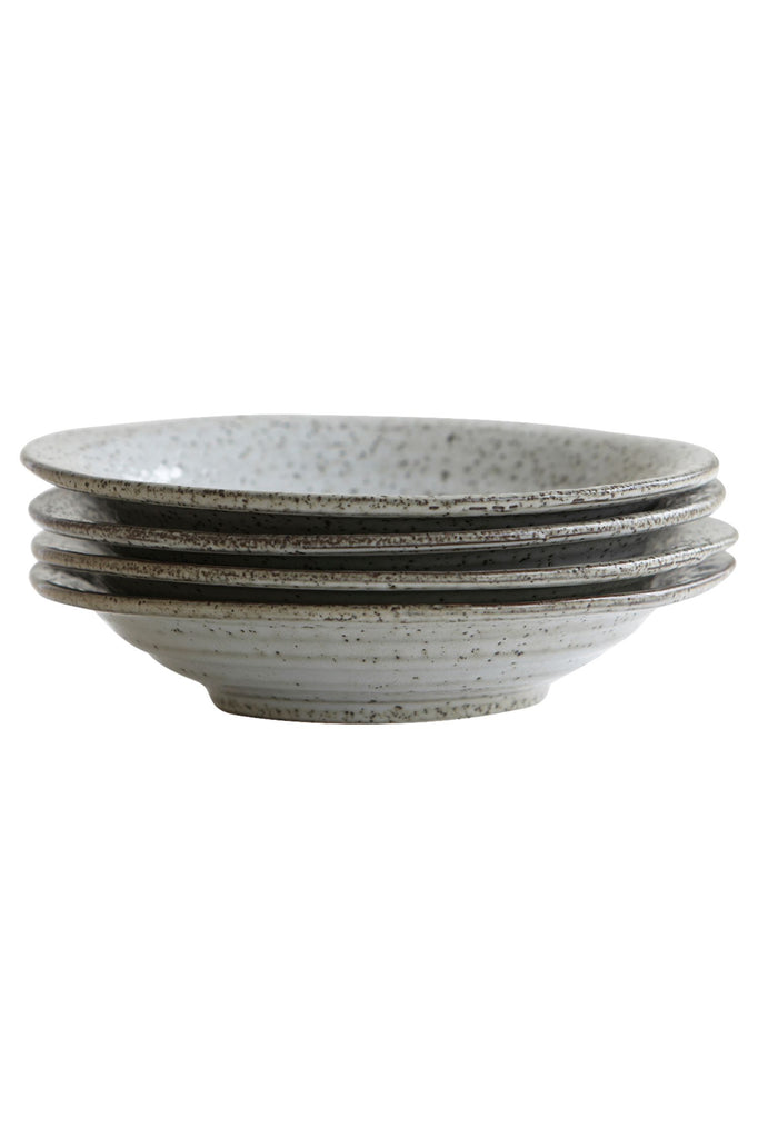 rustique soup bowl grey blues