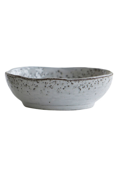 rustique dessert/cereal bowl grey blues