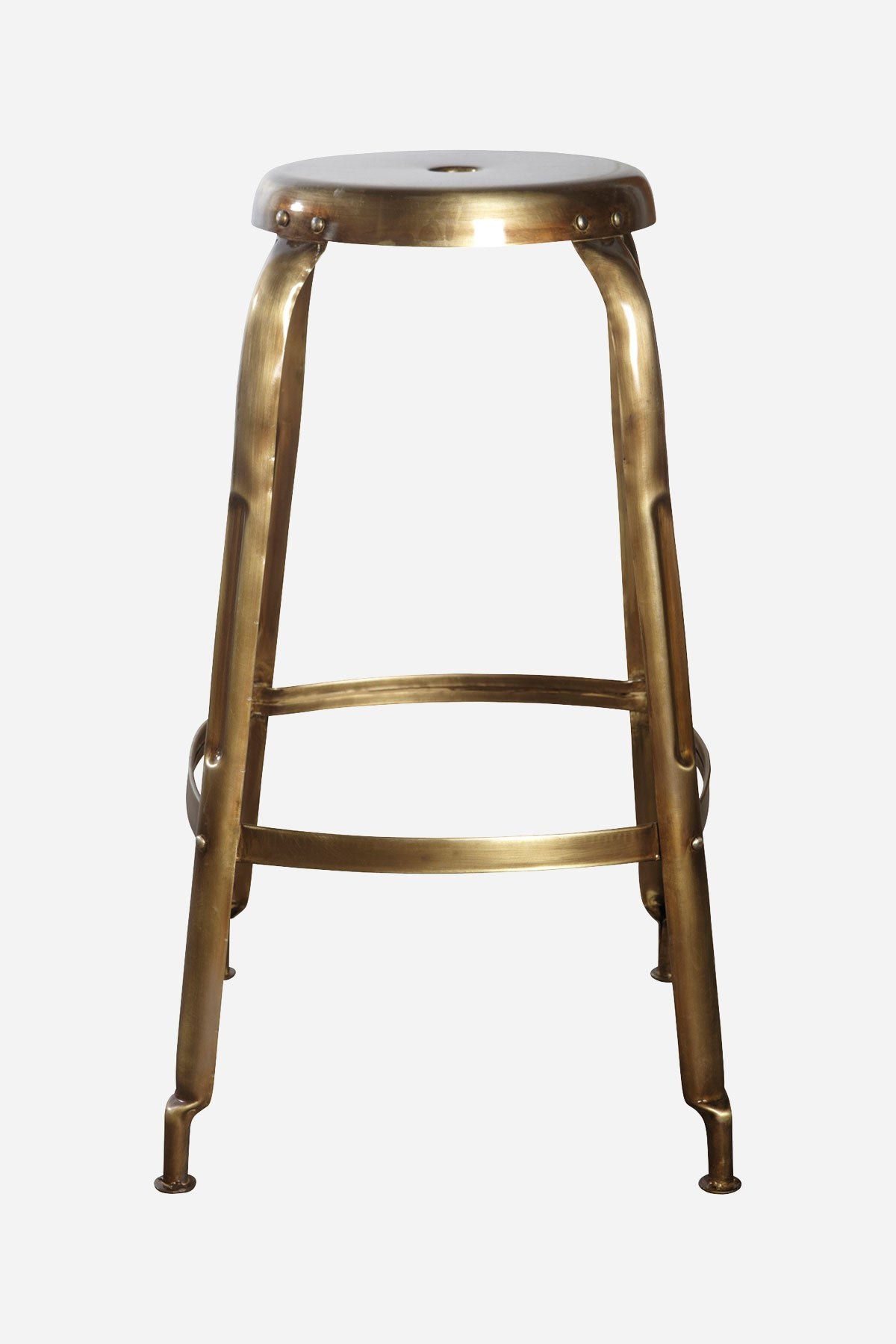 classic french kitchen barstool brass finish