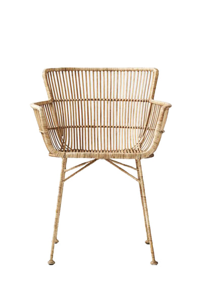 cuun dining chair rattan natural