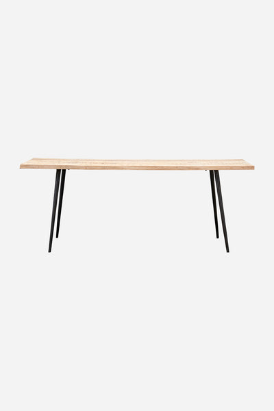 club rectangle dining table natural 2m long