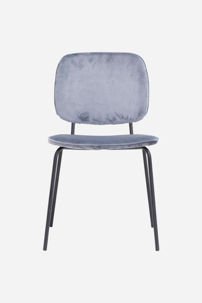 velvet dining chair grey