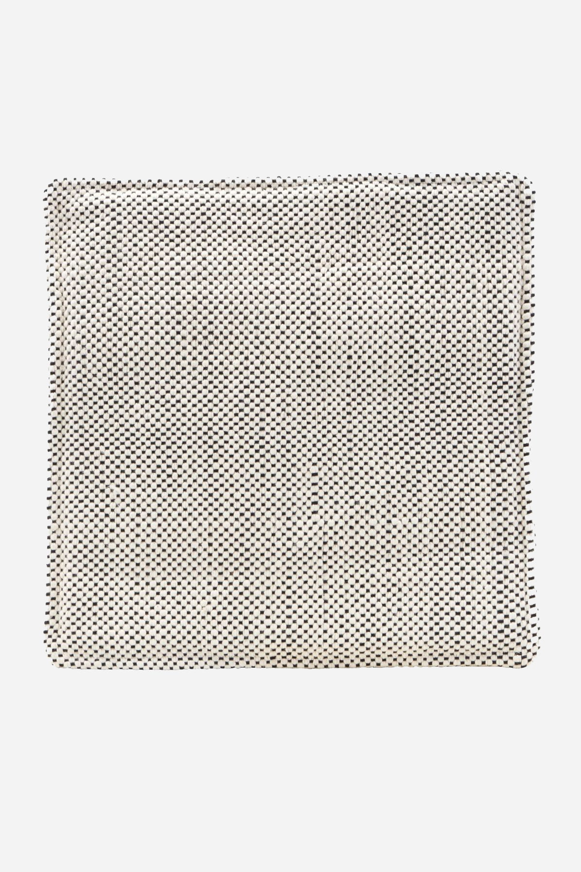 chairpad woven square black/white