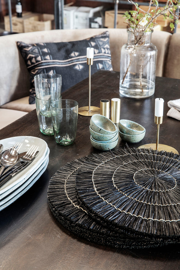 mendong set/4 placemats black