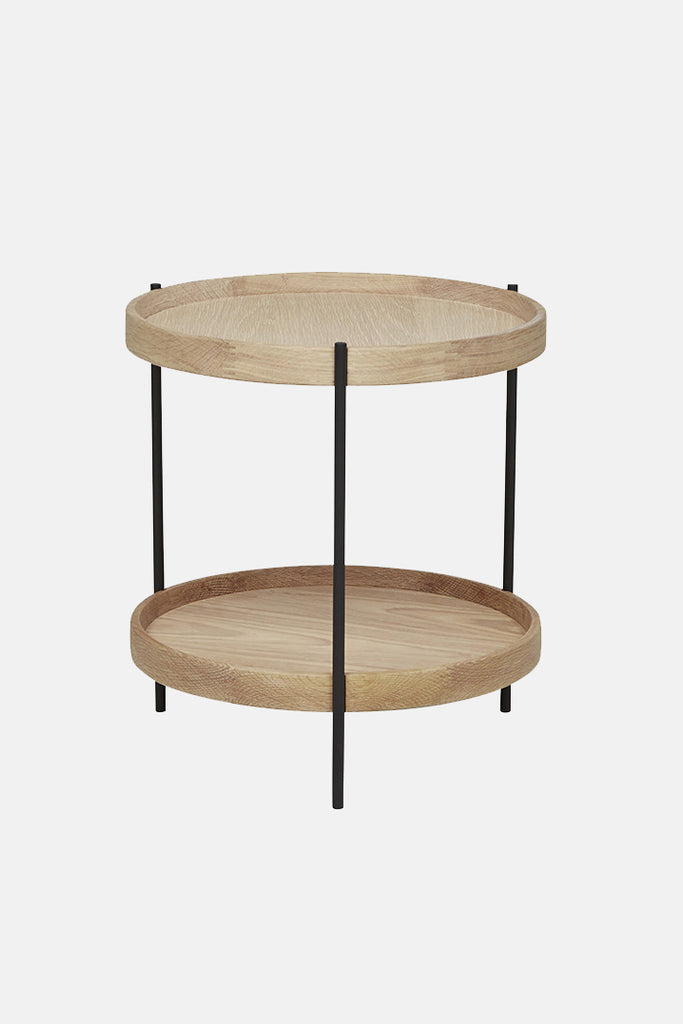 tier side table light oak