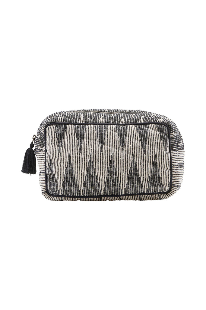 makeup bag grey/white