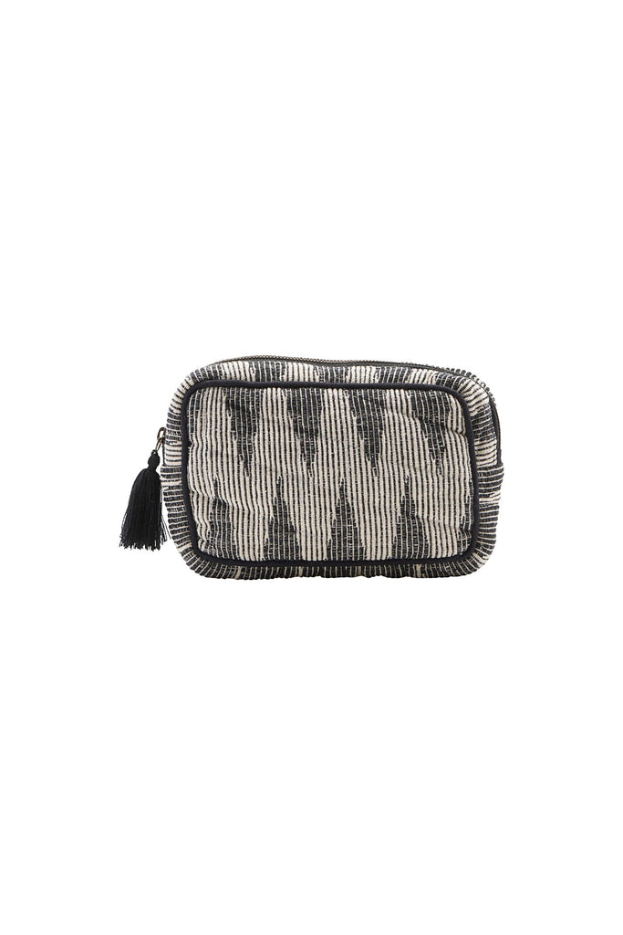toiletry bag grey/white