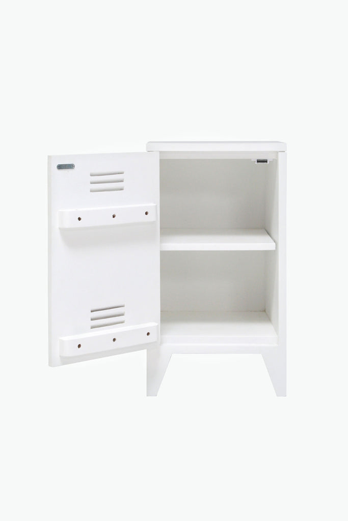 locker bedside set/2 white
