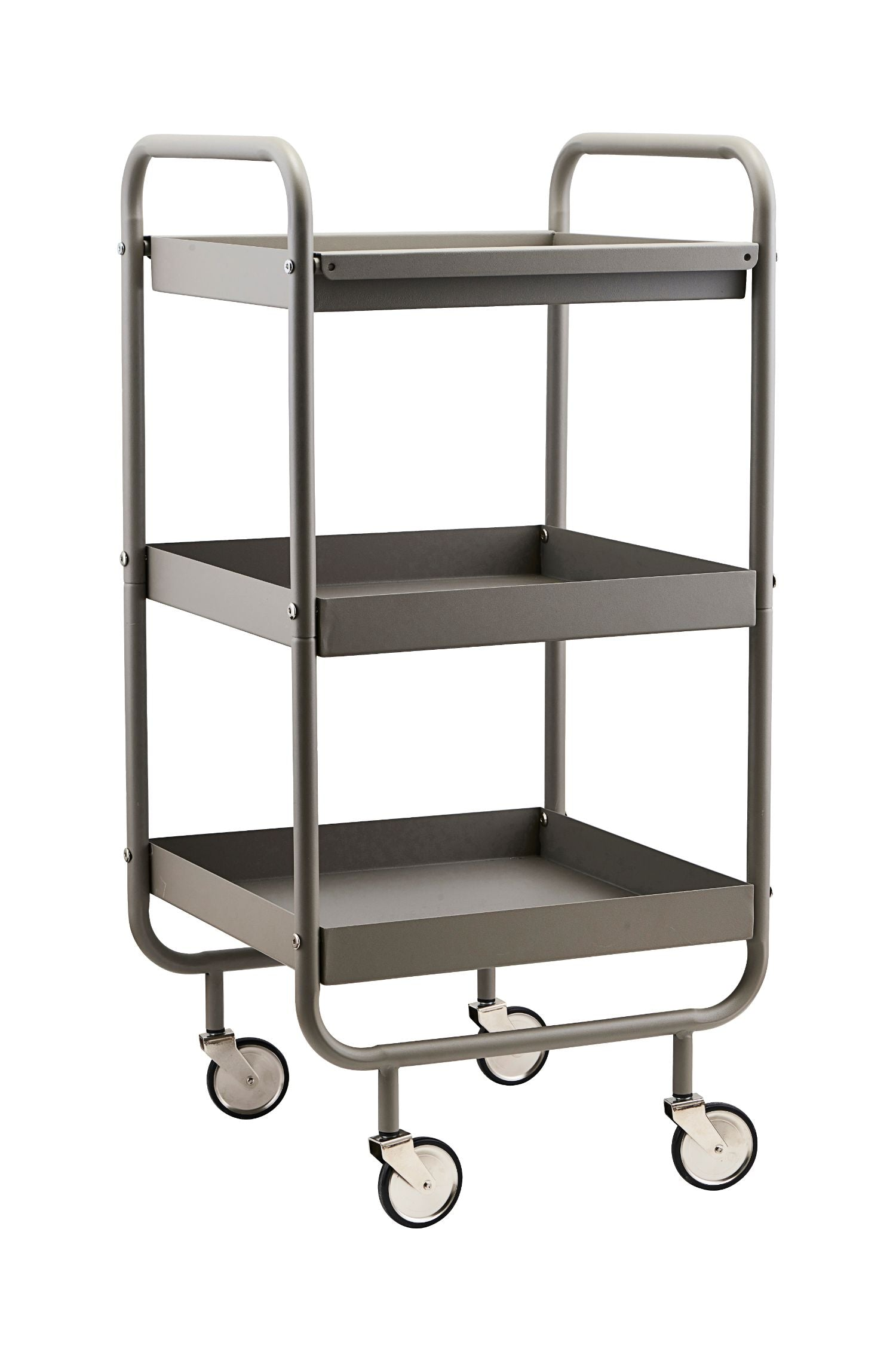 roll trolley grey 3 shelves
