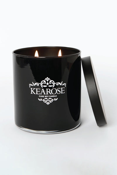 kearose luxury black candle cuban spice + patchouli
