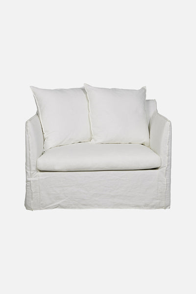 torpedo bay sofa chair canvas white