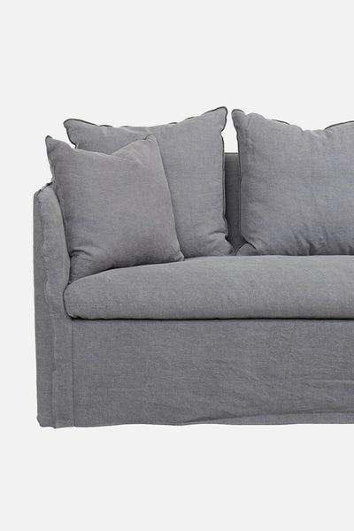 torpedo bay linen sofa 4 seater grey