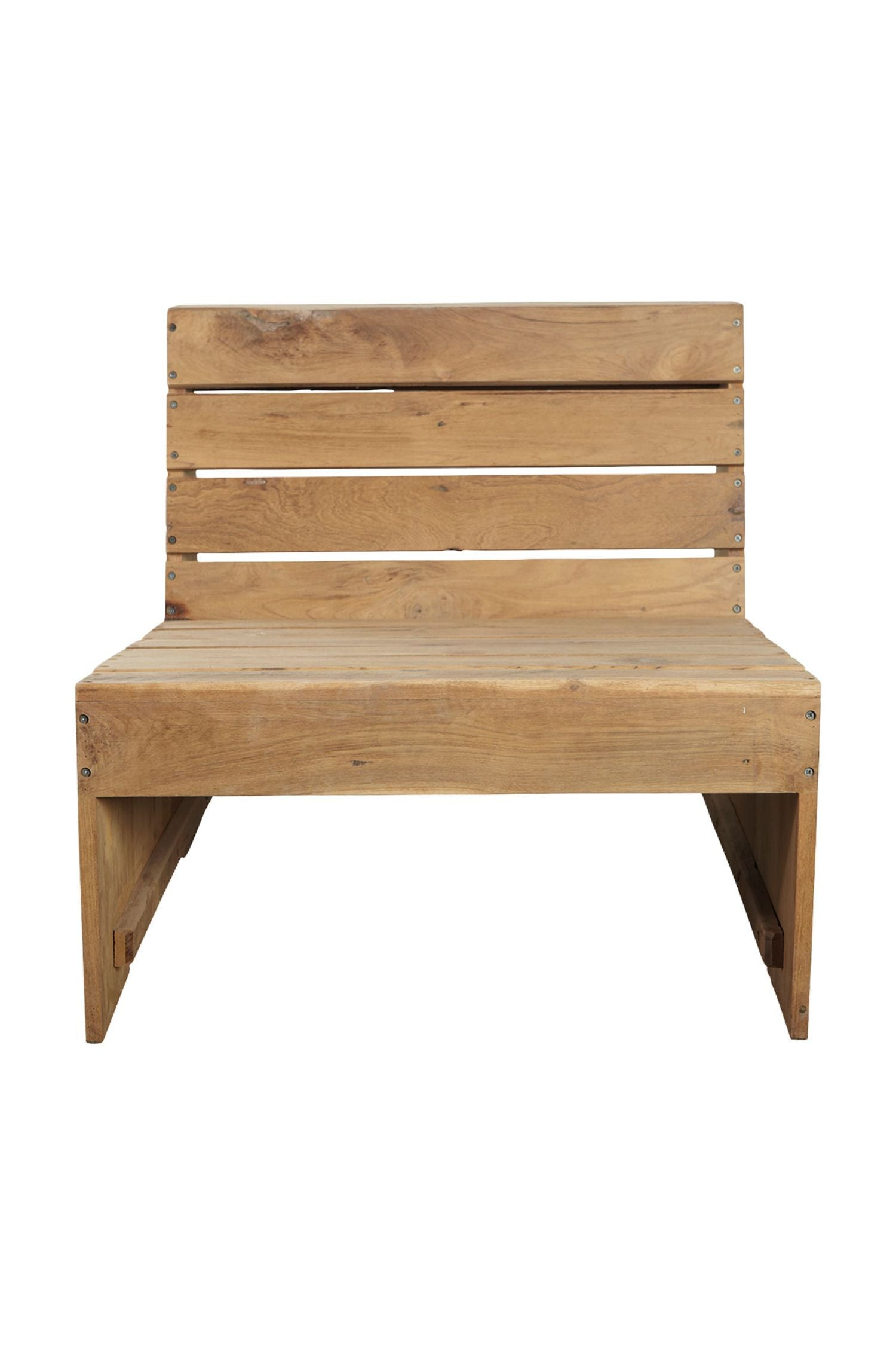 woodie teak outdoor seat