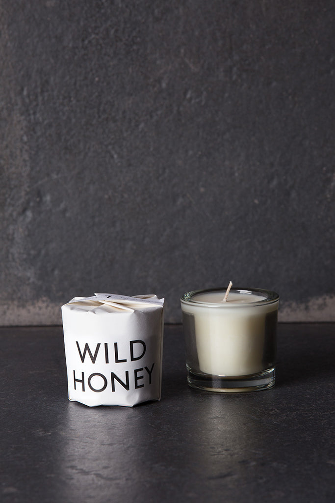 tatine tisane candle wild honey