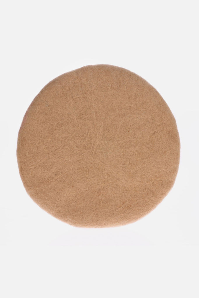 felted wool seat pad camel