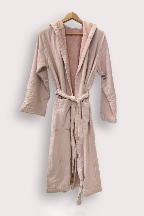vintage wash robe dusty rose