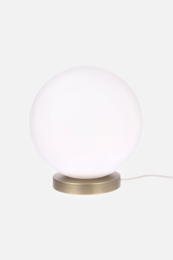 white glass ball lamp large