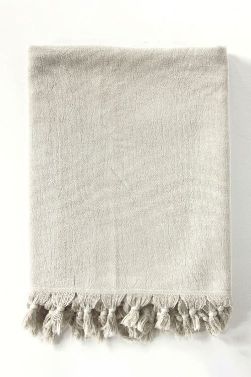 vintage wash towel clay